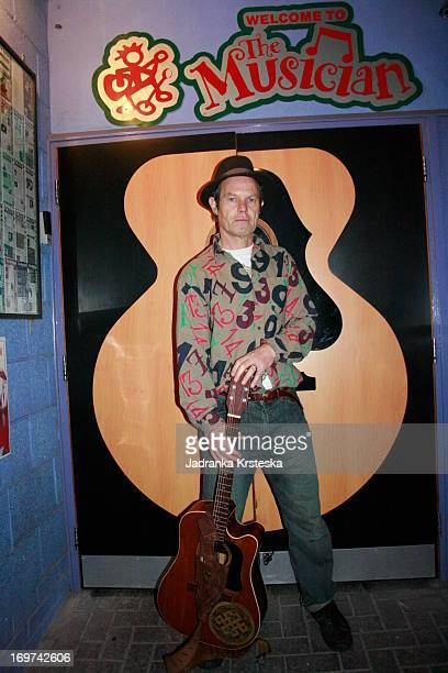 Chris Jagger poses for a portrait out side The Musician venue in Leicester United Kingdom 8th October 2009