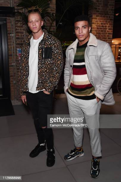 Chris Jammer and Josh Christie attend then Wolf Badger LFW Party during London Fashion Week February 2019 on February 14 2019 in London England