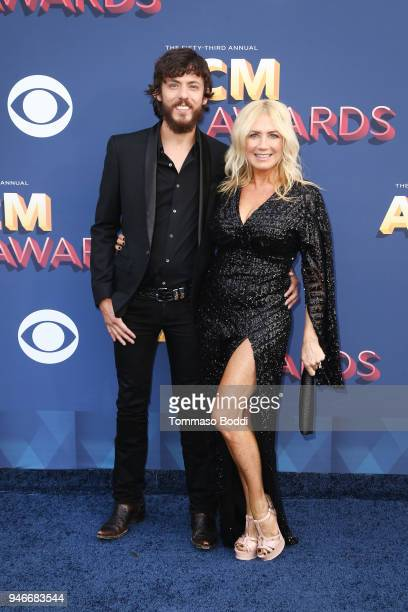 Chris Janson and Kelly Lynn attend the 53rd Academy of Country Music Awards at MGM Grand Garden Arena on April 15 2018 in Las Vegas Nevada