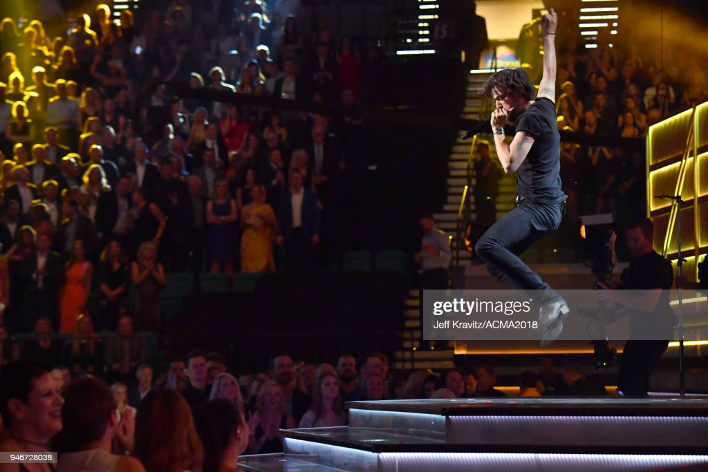 Chris Janson performs onstage during the 53rd Academy of Country Music Awards at MGM Grand Garden Arena on April 15, 2018 in Las Vegas, Nevada.