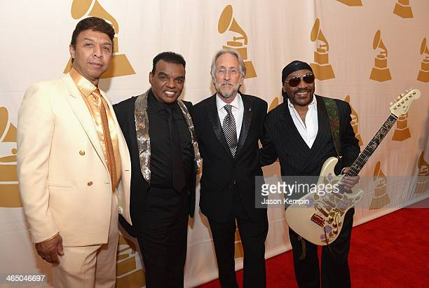 Chris Jasper Ernie Isley Richard Portnow and Ronald Isley attend the Special Merit Awards Ceremony as part of the 56th GRAMMY Awards on January 25...