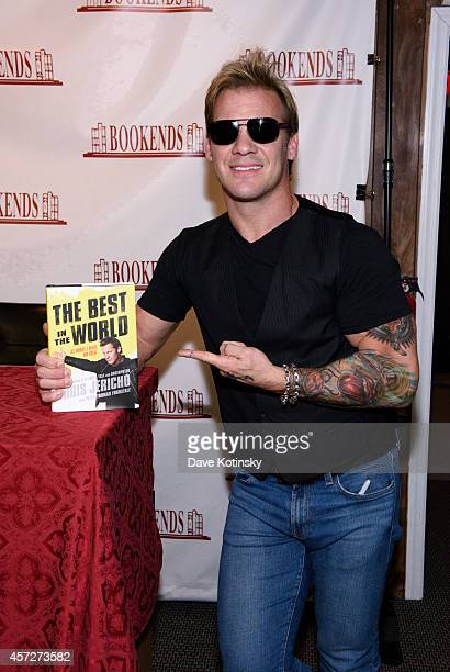 Chris Jericho arrives before signing copies of his book 'The Best In The World' at Bookends Bookstore on October 15 2014 in Ridgewood New Jersey