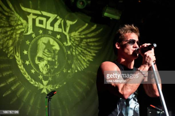 Chris Jericho of Fozzy performs onstage at Rescue Rooms on April 16 2013 in Nottingham England