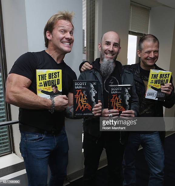 Chris Jericho Scott Ian and Jim Norton visit at SiriusXM Studios on October 15 2014 in New York City