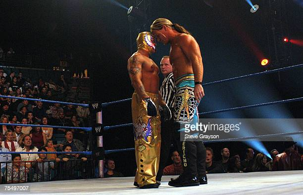 Chris Jerico and Rey Mysterio at the MGM Grand Arena in Las Vegas Nevada