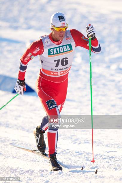 Chris Jespersen of Norway competes during the FIS CrossCountry World Cup Men's 15km Classic on December 7 2013 in Lillehammer Norway