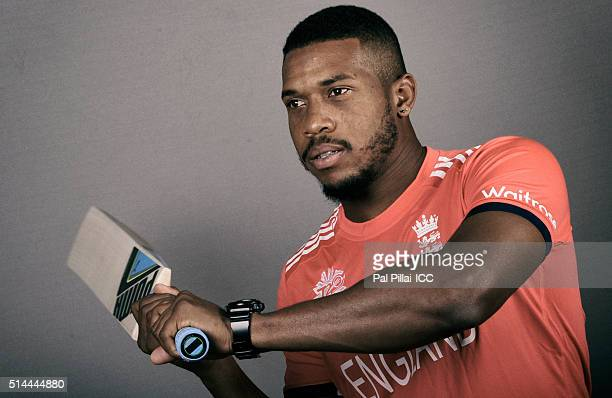 Chris Jordan of England poses during the official photocall for the ICC Twenty20 World on March 9 2016 in Mumbai India