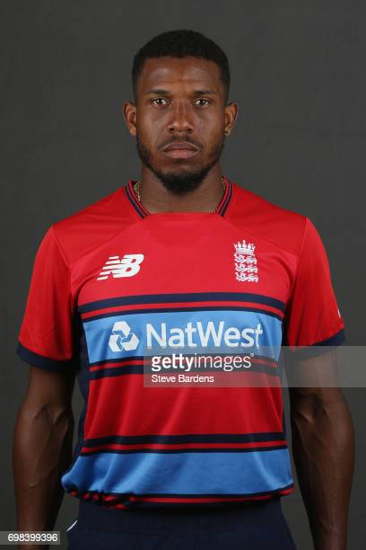 Chris Jordan of England poses for a portrait ahead of the Twenty20 International between England and South Africa at Ageas Bowl on June 20 2017 in...