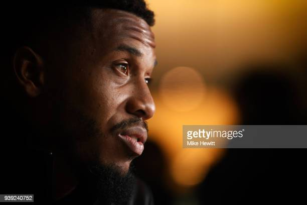 Chris Jordan of Sussex talks to the media during a Sussex CCC photocall at The 1st Central County Ground on March 28 2018 in Hove England
