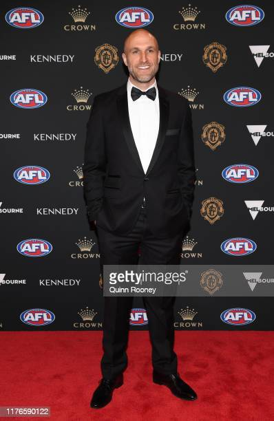 Chris Judd arrives ahead of the 2019 Brownlow Medal at Crown Palladium on September 23 2019 in Melbourne Australia