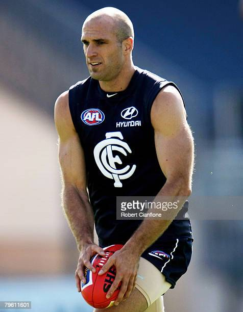 Chris Judd of the Blues in action during a Carlton Blues AFL training session held at MC Labour Park February 7, 2008 in Melbourne, Australia.