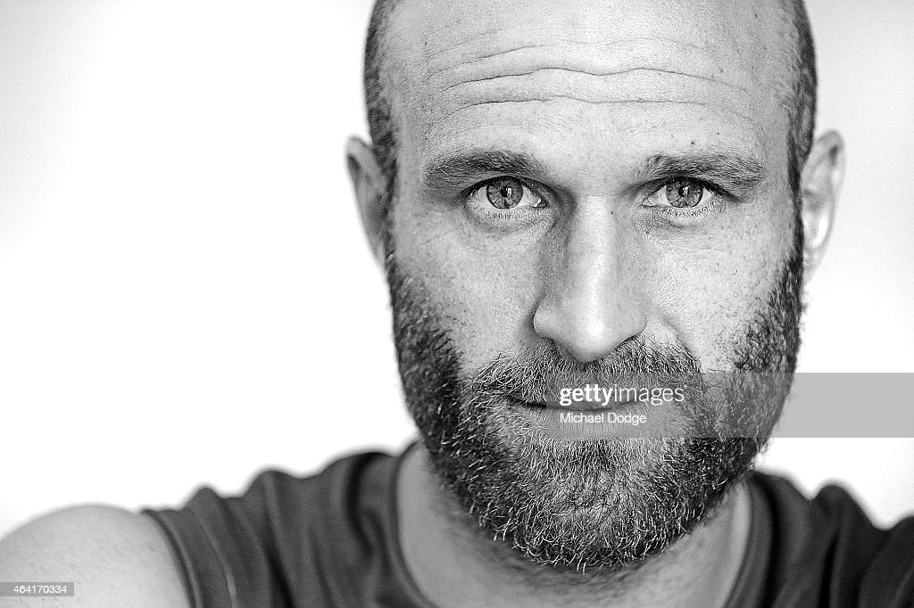 .Chris Judd of the Carlton Blues poses during a portrait session on January 29, 2015 in Mount Buller, Australia.