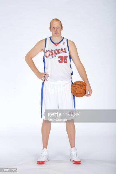 Chris Kaman of the Los Angeles Clippers poses for a portrait during NBA Media Day on September 29 2008 at the Clippers Training Facility in Playa...