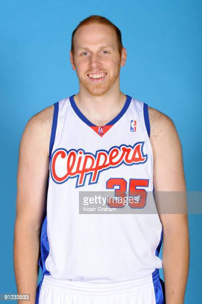 Chris Kaman of the Los Angeles Clippers poses for a portrait during 2009 NBA Media Day on September 28 2009 at Staples Center in Los Angeles...