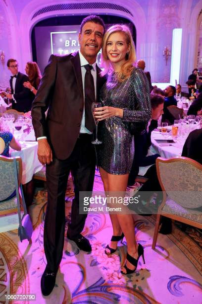 Chris Kamara and Rachel Riley at the British Takeaway Awards 2018 in association with Just Eat at The Savoy Hotel on November 12 2018 in London...