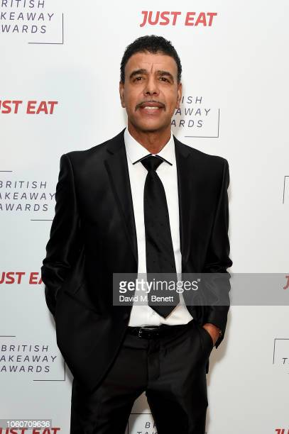 Chris Kamara at the British Takeaway Awards 2018 in association with Just Eat at The Savoy Hotel on November 12 2018 in London England The awards...