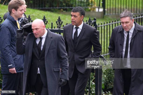 Chris Kamara attends the funeral of former England football manager Graham Taylor at St Mary's Church on February 1 2017 in Watford England Graham...