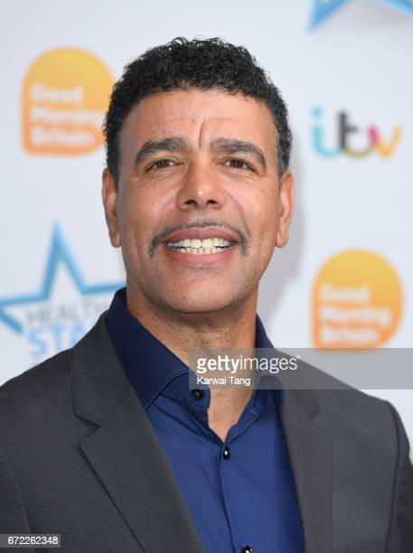 Chris Kamara attends the Good Morning Britain Health Star Awards at the Rosewood Hotel on April 24 2017 in London United Kingdom