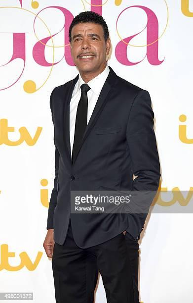 Chris Kamara attends the ITV Gala at London Palladium on November 19 2015 in London England