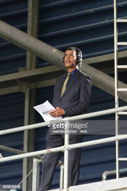Chris Kamara from Sky Sports News reporting on the game during the Premier League match between West Bromwich Albion and AFC Bournemouth at The...
