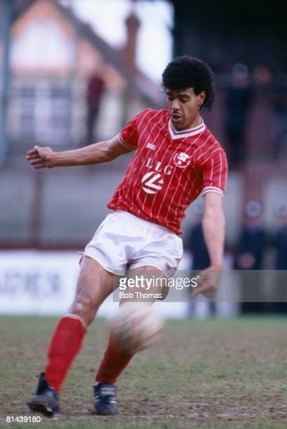 Chris Kamara in action for Swindon Town during their 4th Division match against Crewe Alexandra at the County Ground May 5th 1986 Swindon won 10