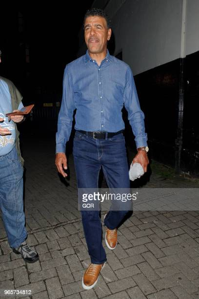 Chris Kamara leaving Britain's Got Talent live show in Hammersmith on June 1 2018 in London England