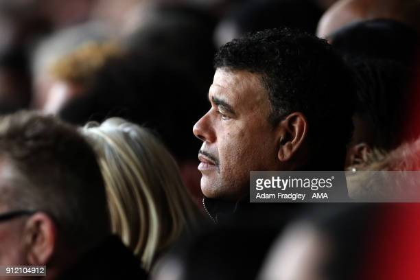 Chris Kamara looks on during the Cyrille Regis Memorial Service at The Hawthorns at The Hawthorns on January 30 2018 in West Bromwich England