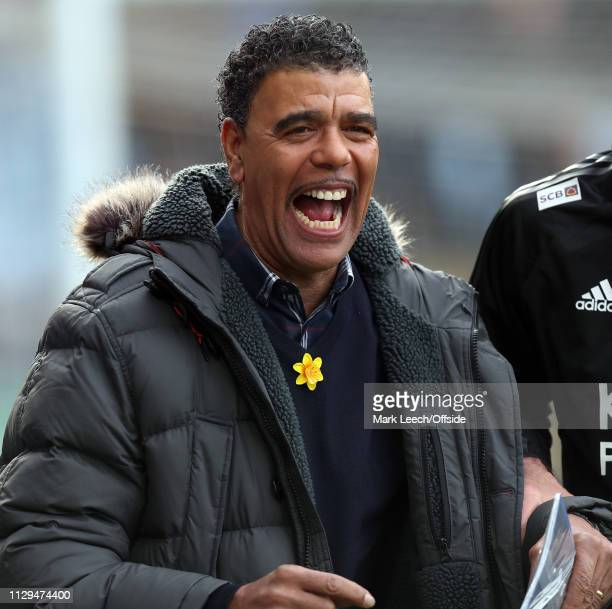 Chris Kamara of Sky Sports television during the Premier League match between Leicester City and Fulham FC at The King Power Stadium on March 9 2019...