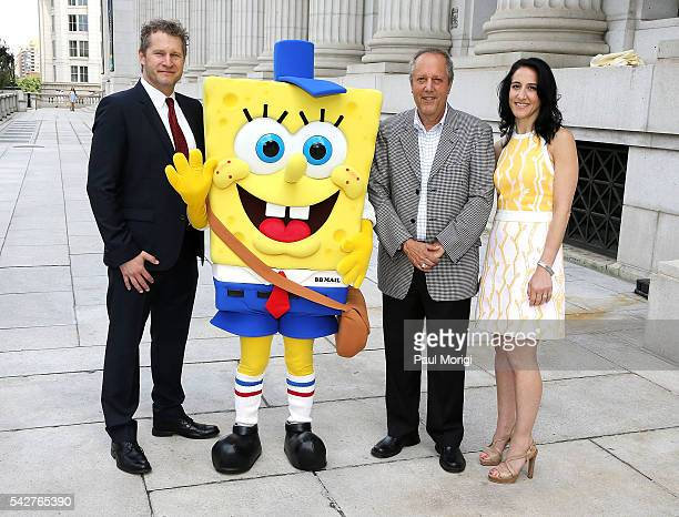 Chris Karpenko Executive Director Brand Marketing United States Postal Service SpongeBob SquarePants Allen Kane Director of the National Postal...