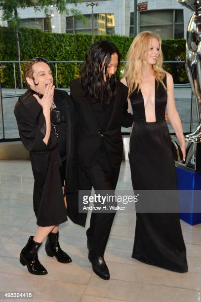 Chris Kattan Alexander Wang and Anna Ewers attend the 2014 CFDA fashion awards at Alice Tully Hall Lincoln Center on June 2 2014 in New York City