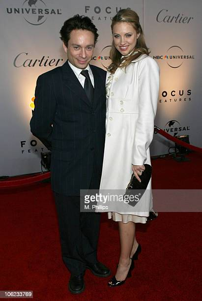 Chris Kattan and guest during Focus Features and Universal's 2007 Golden Globe After Party - Arrivals at Beverly Hilton in Los Angeles, California,...
