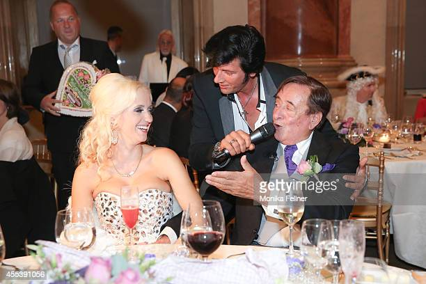 Chris Kayw performs at the wedding of Richard Lugner and Cathy Schmitz at Liechtenstein Palace on September 13 2014 in Vienna Austria