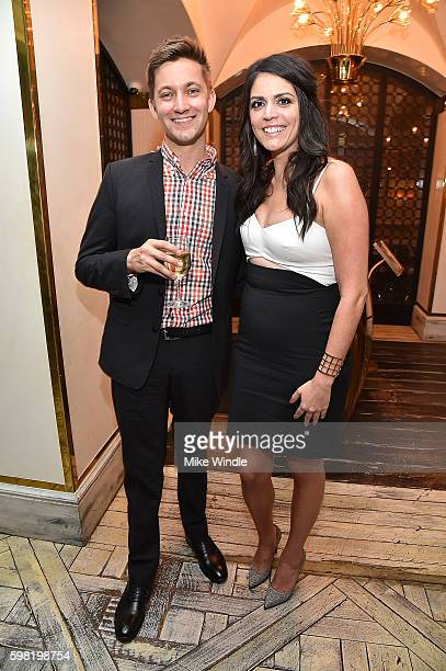 Chris Kelly and Cecily Strong attend the after party for the premiere of Vertical Entertainment's 'Other People' on August 31 2016 in West Hollywood...