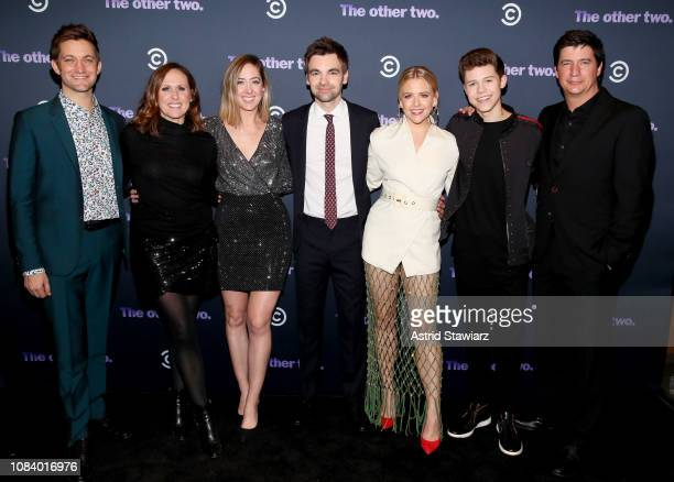Chris Kelly Molly Shannon Sarah Schneider Drew Tarver Heléne Yorke Case Walker and Ken Marino attend Comedy Central's 'The Other Two' series premiere...