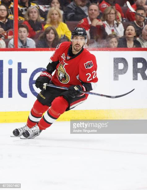 Chris Kelly of the Ottawa Senators skates against the Boston Bruins in Game Five of the Eastern Conference First Round during the 2017 NHL Stanley...