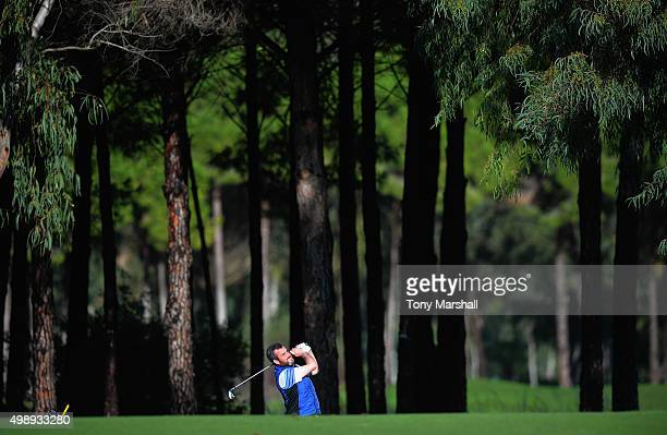 Chris Kelly plays a shot during the first round of the PGA PlayOffs at the Antalya Golf ClubPGA Sultan Course on November 27 2015 in Antalya Turkey