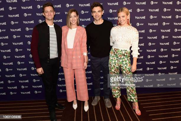 Chris Kelly Sarah Schneider Drew Tarver and Helene Yorke attend 'The Other Two with Fred Armisen' during the Vulture Festival presented by ATT at...