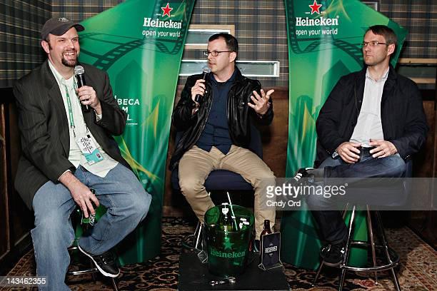 Chris Kenneally and Justin Szlasa attend Heineken Presents Side by Side Fan QA on April 26 2012 in New York City
