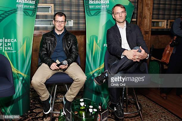 Chris Kenneally and Justin Szlasa attends Heineken Presents Side by Side Fan QA on April 26 2012 in New York City