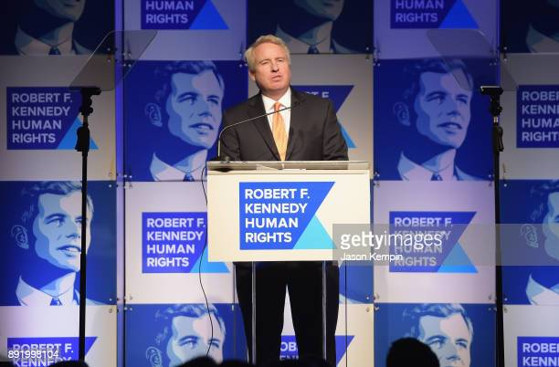 Chris Kennedy speaks onstage during Robert F Kennedy Human Rights Hosts Annual Ripple Of Hope Awards Dinner on December 13 2017 in New York City