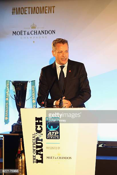 Chris Kermode Executive Chairman and President of the ATP talks at Cutty Sark on November 10 2016 in London England