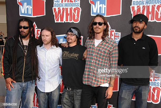 Chris Kilmore Mike Einziger Jose Pasillas Brandon Boyd and Benjamin Kenney of Incubus arrive at the 2008 VH1 Rock Honors honoring The Who at UCLA's...