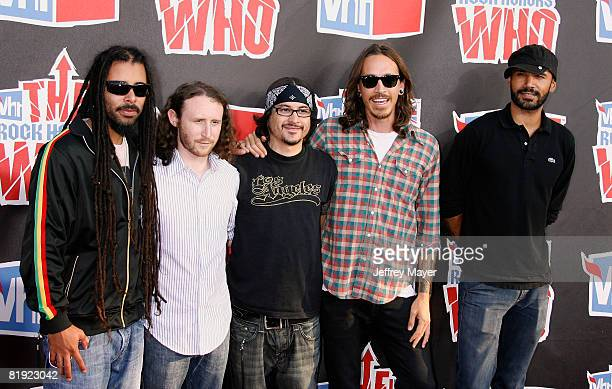 Chris Kilmore Mike Einziger Jose Pasillas Brandon Boyd and Benjamin Kenney of Incubus attend the 2008 VH1 Rock Honors The Who at the Pauley Pavilion...