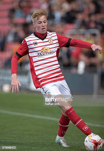 Chris Kirk of Crewe Alexandra in action during the PreSeason Friendly between Crewe Alexandra and Wolverhampton Wanderers at The Alexandra Stadium on...