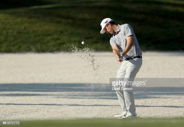 Chris Kirk of the United States plays a shot during practice for THE PLAYERS Championship on the Stadium Course at TPC Sawgrass on May 10 2017 in...