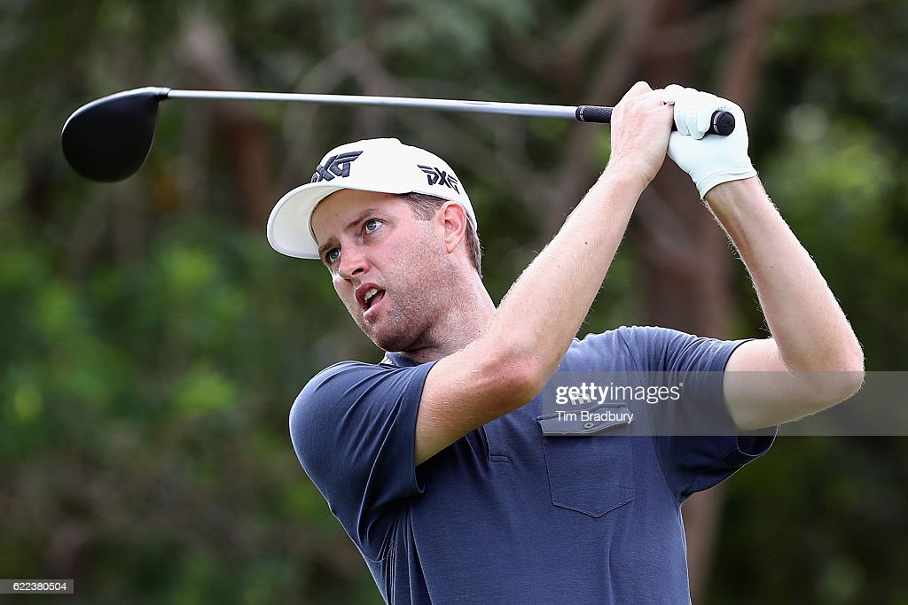 Chris Kirk of the United States plays his shot from the seventh tee during the second round of the OHL Classic at Mayakoba on November 11, 2016 in Playa del Carmen, Mexico.