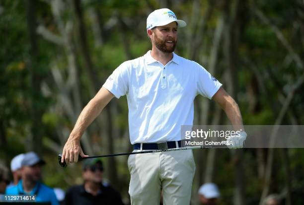 Chris Kirk of the United States reacts to his drive on the third hole during The Open Qualifying Series part of the Arnold Palmer Invitational at Bay...