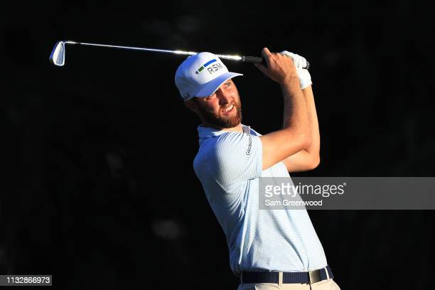Chris Kirk plays his shot from the seventh tee during the first round of the Honda Classic at PGA National Resort and Spa on February 28 2019 in Palm...