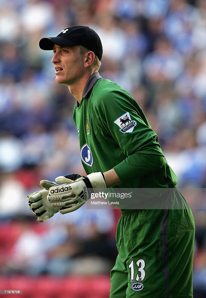 Chris Kirkland of Wigan Athletic in action during the Barclays Premiership match between Wigan Athletic and Watford at the JJB Stadium on September 23, 2006 in Wigan, England.