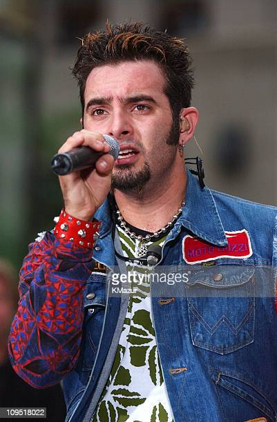 Chris Kirkpatrick during *NSYNC Performs on 'The Today Show' Summer Concert Series August 20 2001 at NBC Studios in New York City New York United...